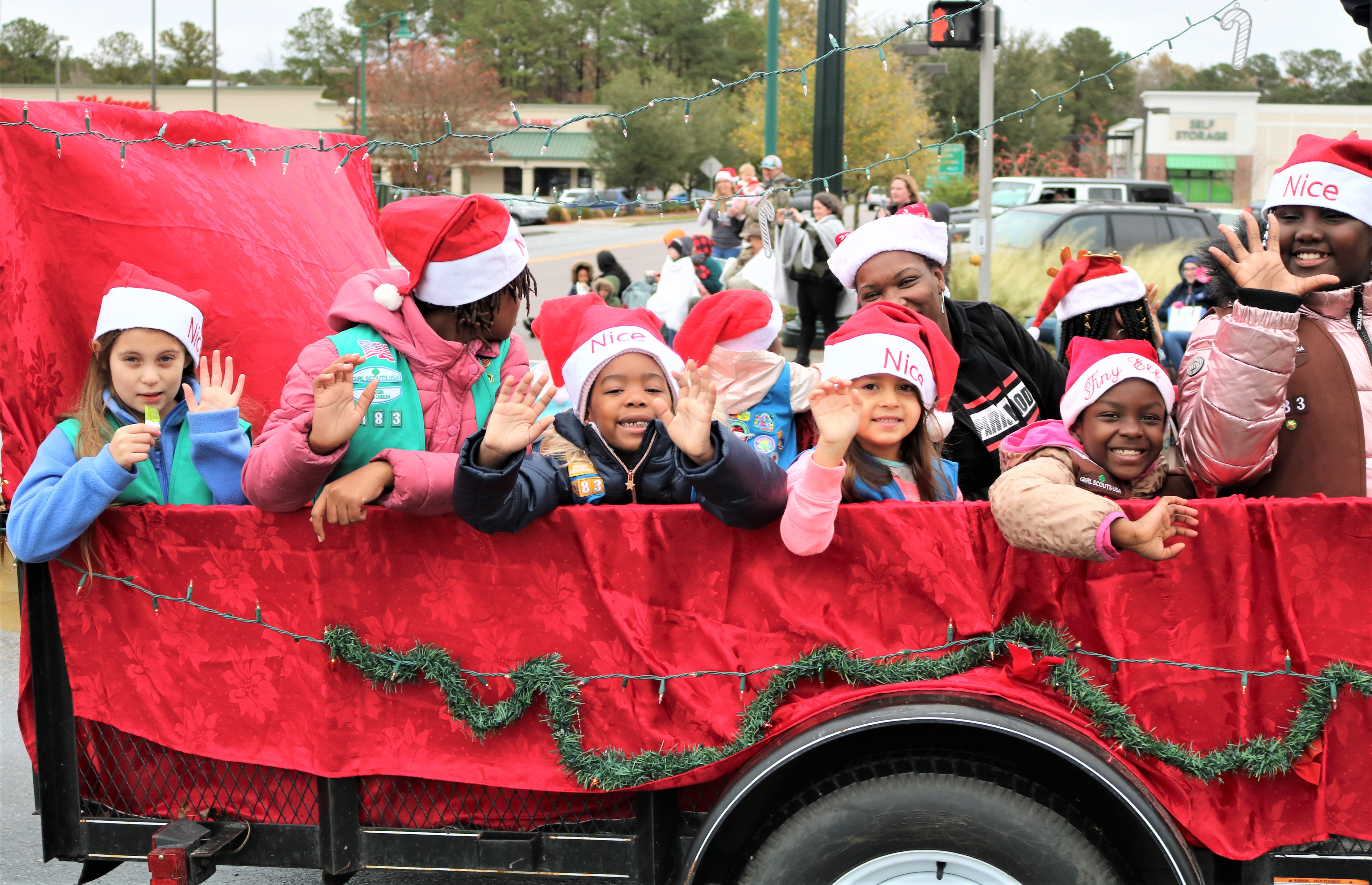 Christmas Parade kids