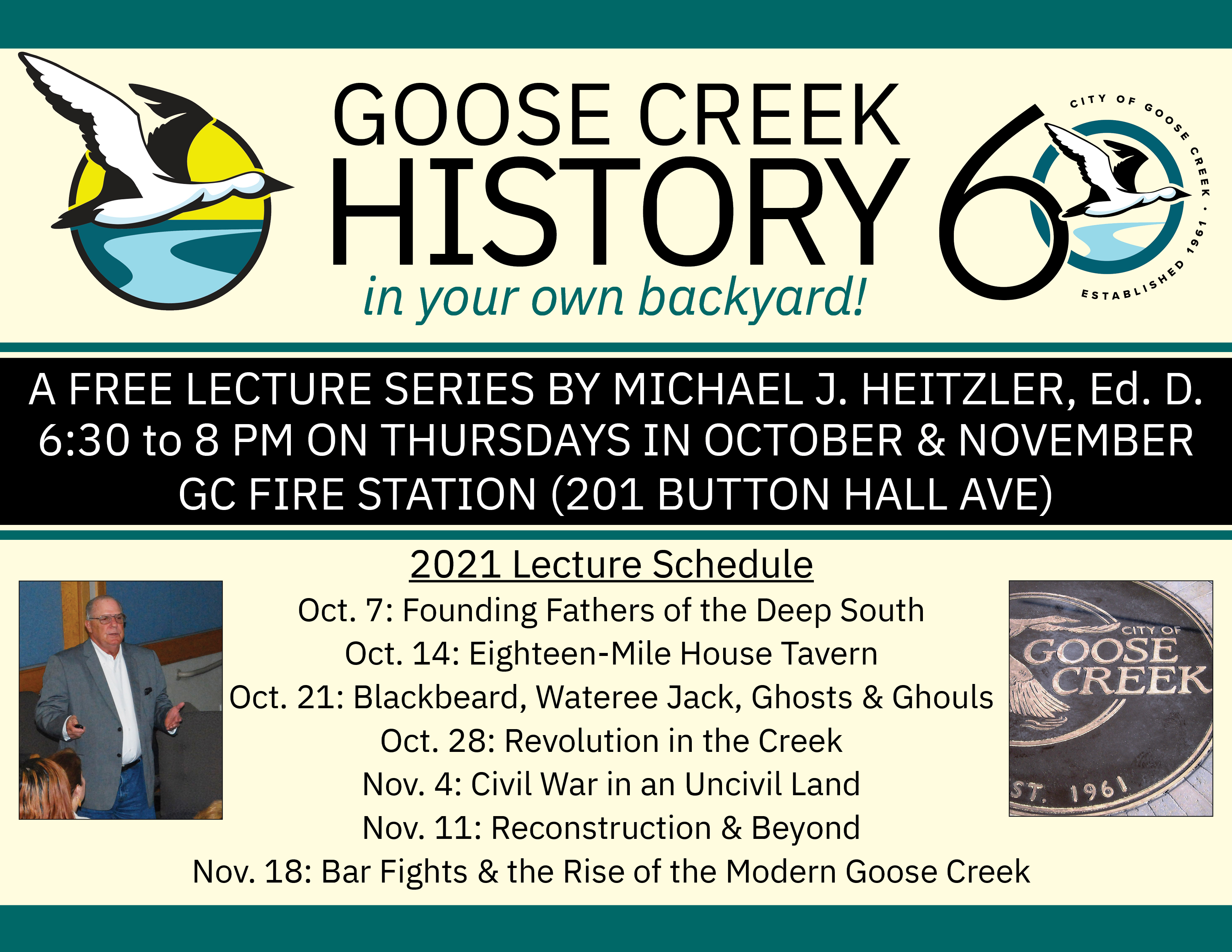 History lecture flier