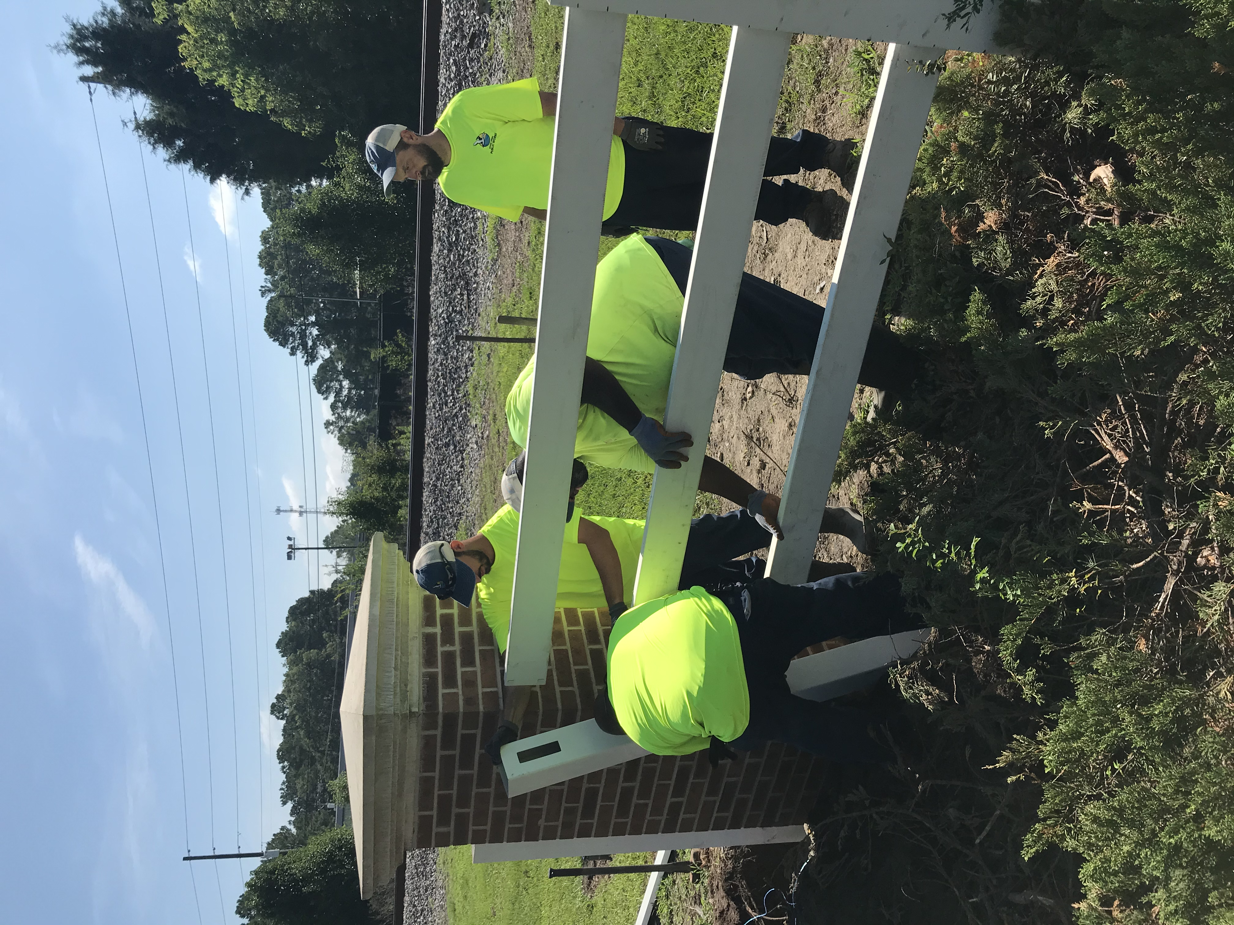 Repair of fence along Hwy 52