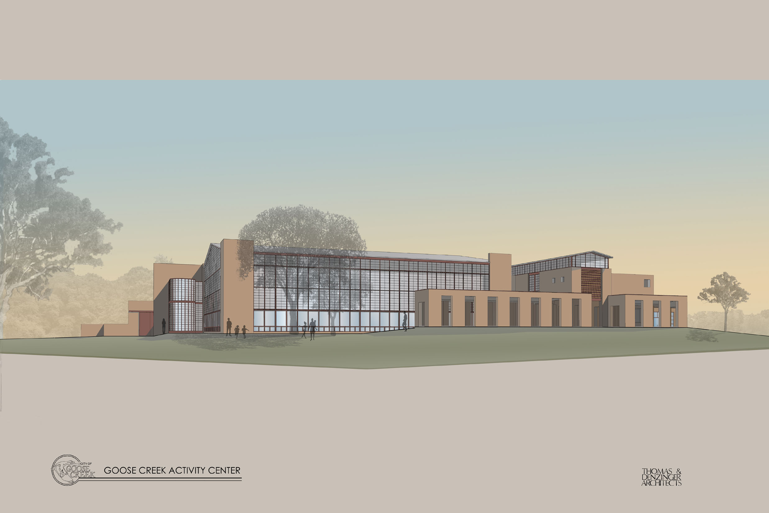 artist rendering for new Activity Center