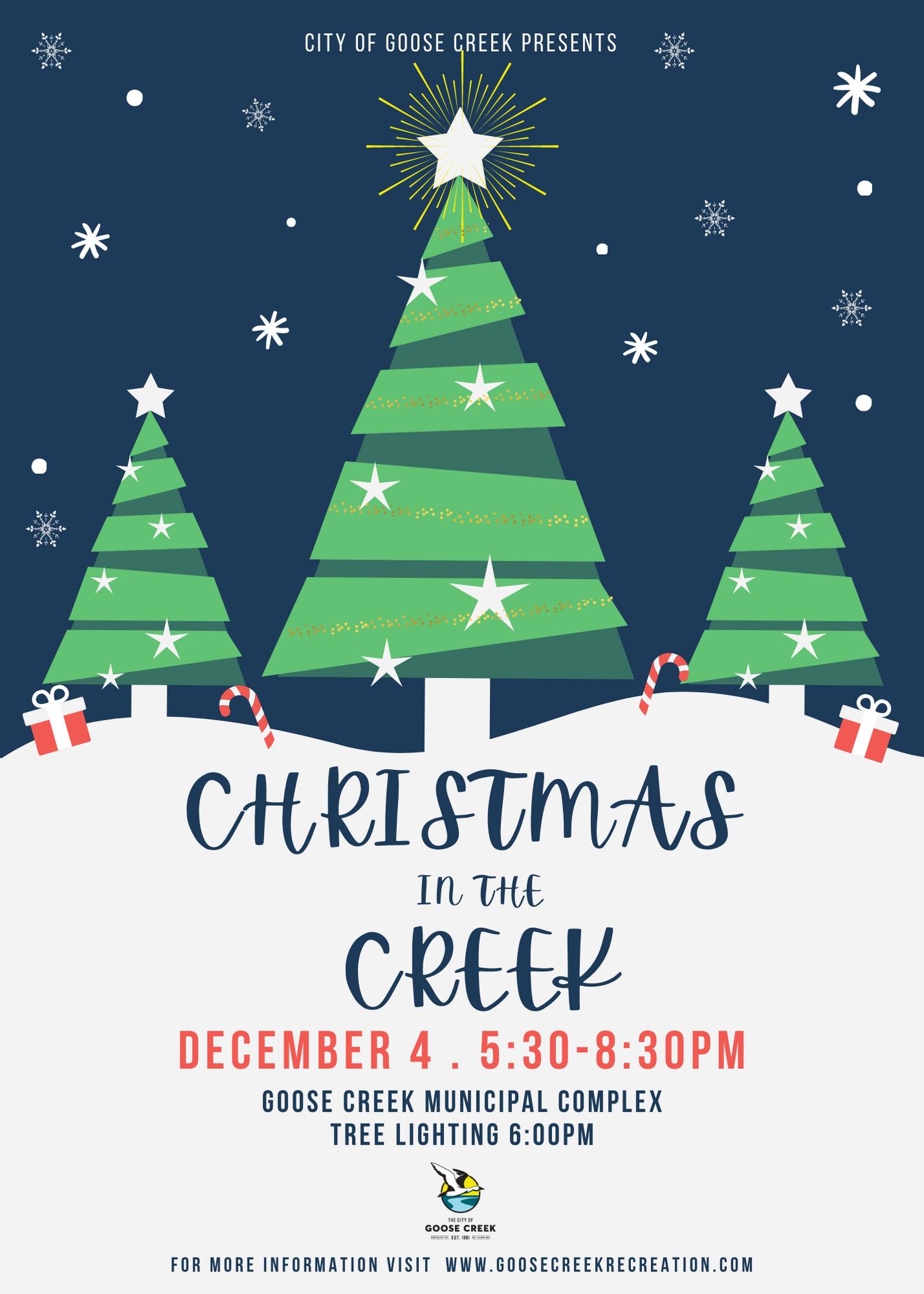 Goose For Christmas 2020 Christmas in the Creek Tree Lighting, Fri, 12/04/2020   17:30