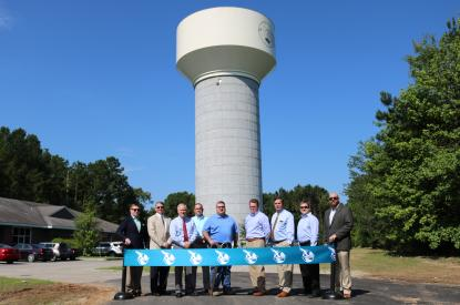 water tank ribbon cutting
